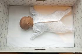 Foto baby in doos