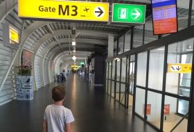 Vliegen vanaf de M-pier op Schiphol