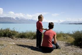 Uitzicht op Mount Cook onderweg naar Dunedin