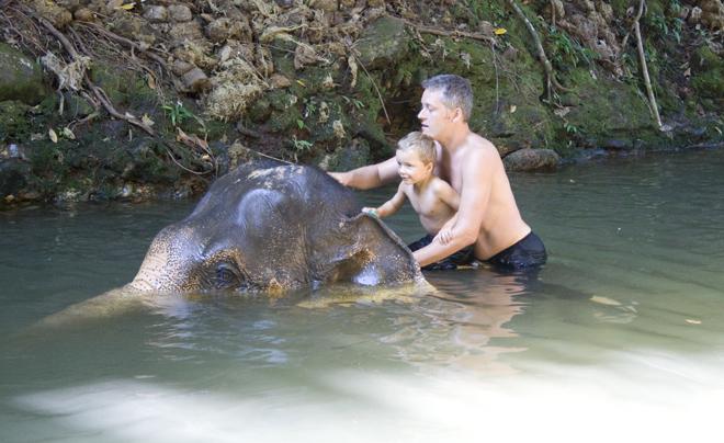 Doen op Koh Chang: een olifant wassen