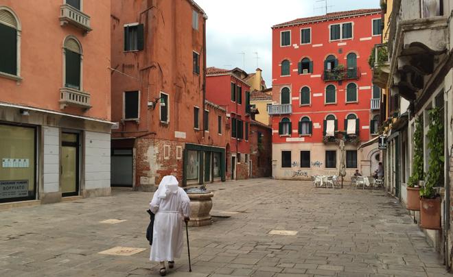 Venetië met kleine kinderen; veel kleine straatjes