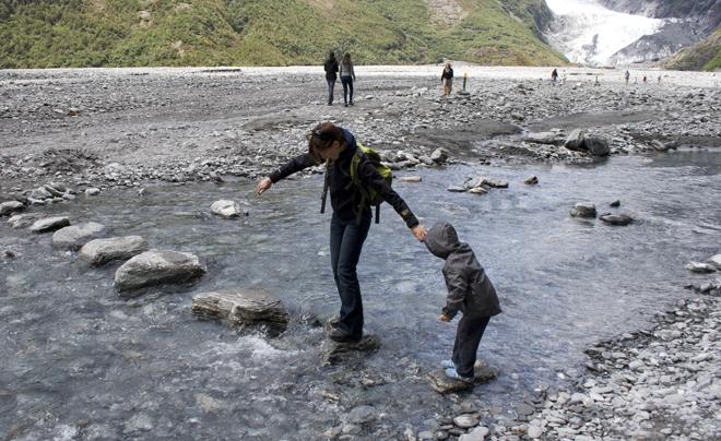 Onderweg naar de gletsjer (Nieuw-Zeeland)