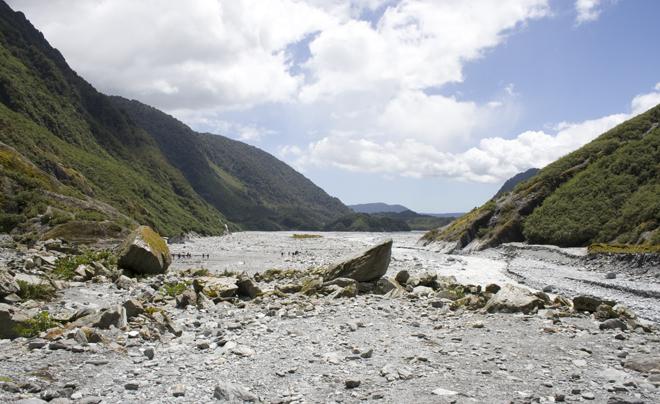 Het door de gletsjer uitgesleten dal