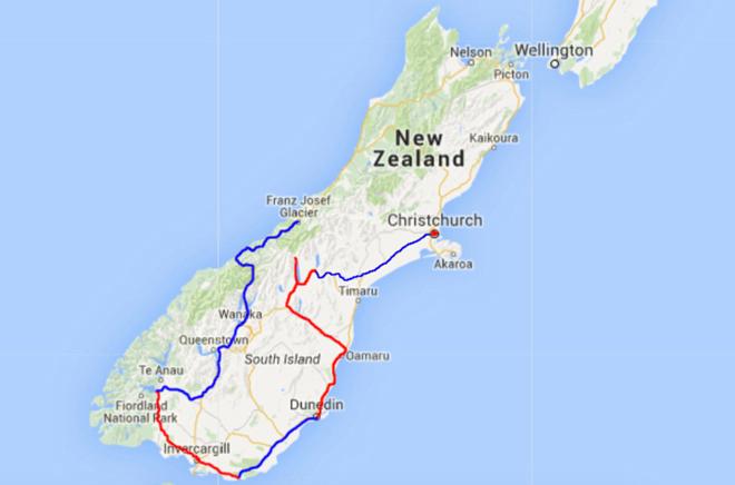 Route Nieuw-Zeeland deel 6
