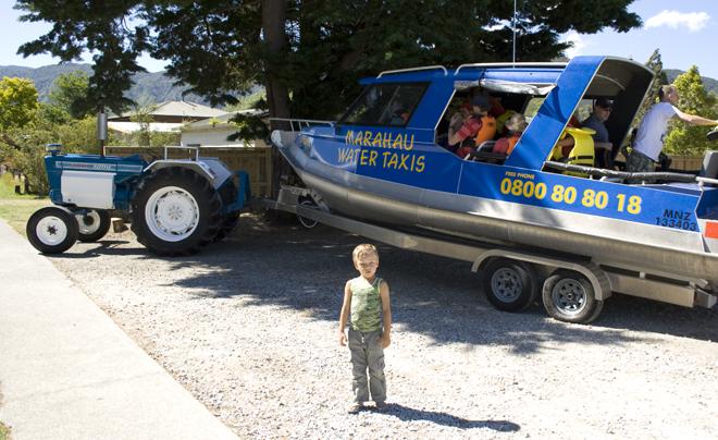 Met de Manahau Taxi Service naar Abel Tasman National Park
