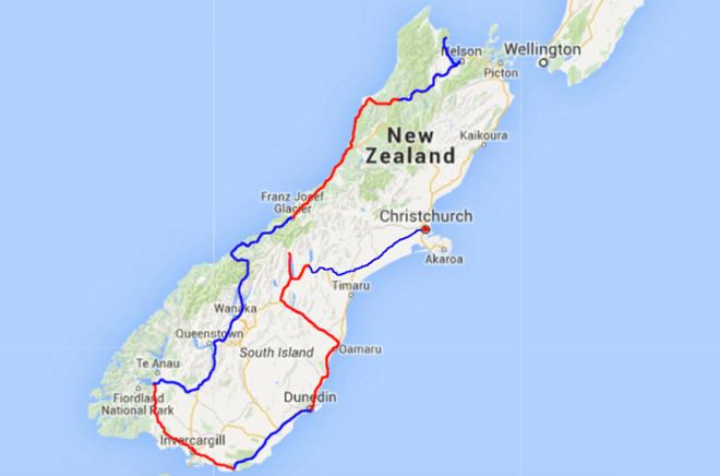 Dee 8 van onze route door Nieuw-Zeeland