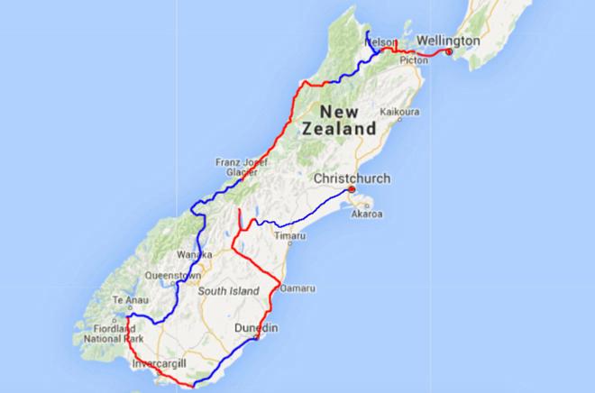 Kaart Zuidereiland NZ deel 9