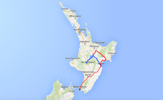 Route roadtrip deel 12 van wai o tau naar Napier