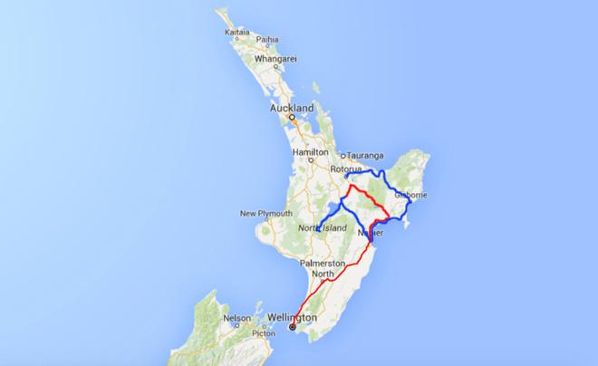 Kaart noordereiland deel 13