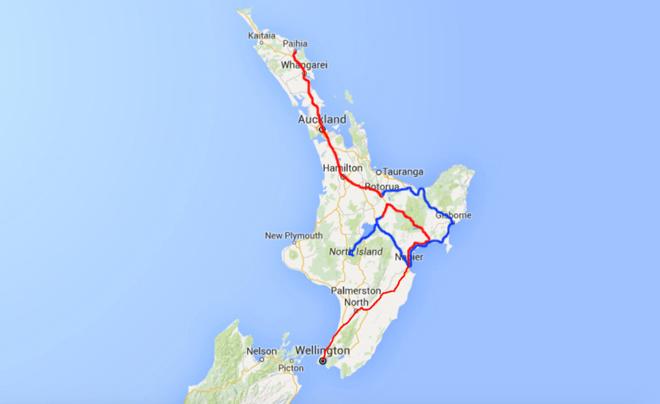 Kaart noordereiland deel 14