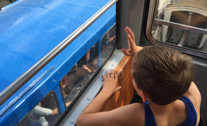 Wandelen door Zagreb met kinderen; de funicular