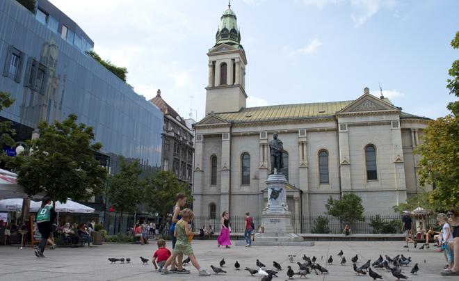Wandelen door Zagreb met kinderen; Petar Preradovic Plein