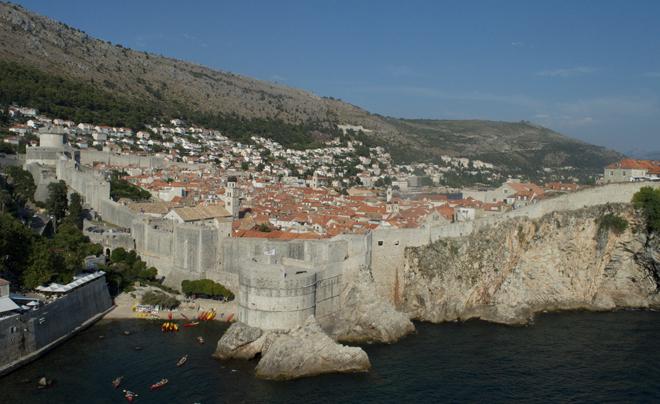 Dubrovnik met kinderen; uitzicht over de stad