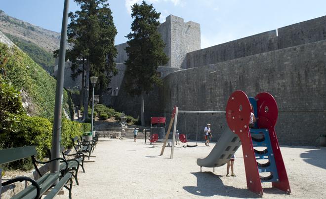 Dubrovnik met kinderen; speeltuin