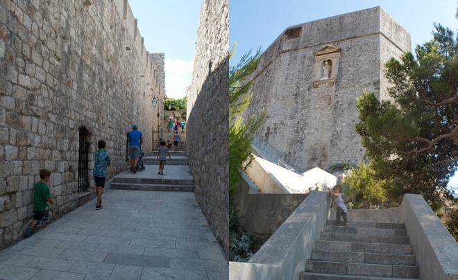 Dubrovnik met kinderen; wandelen langs de stadsmuur
