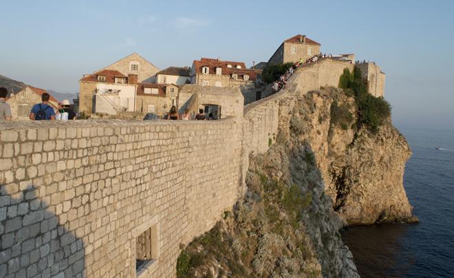 Dubrovnik met kinderen; stadsmuur