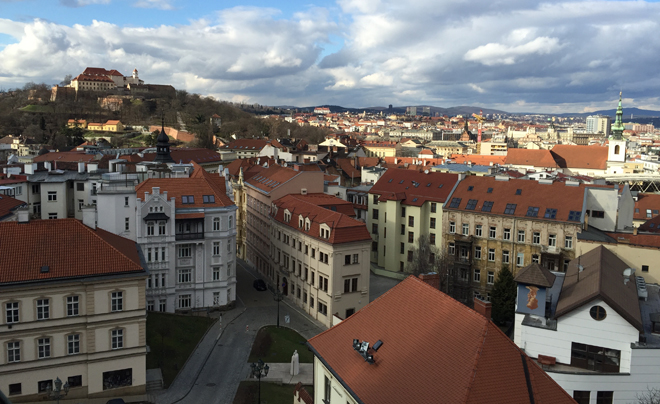 Uitzicht over Brno