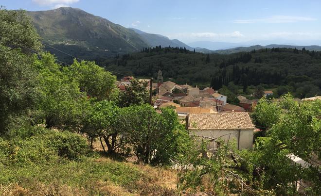 Reisverslag Corfu - dorpje