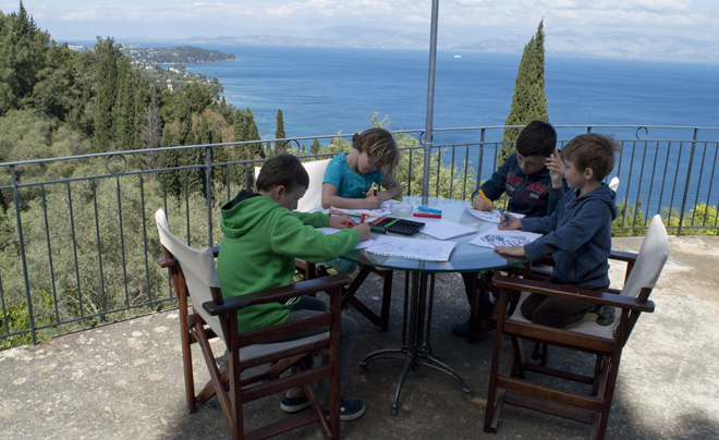 Reisverslag Corfu - tekenen