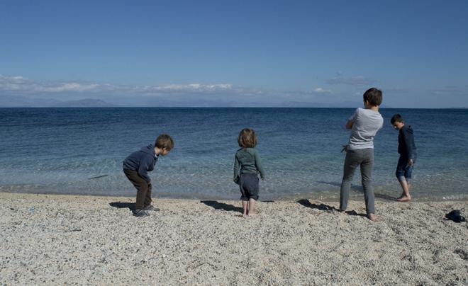 Reisverslag Corfu - strand benitses