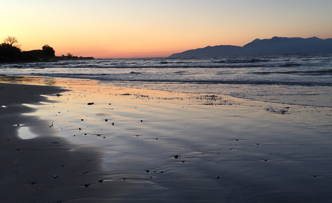 Reisverslag Corfu - zonsondergang