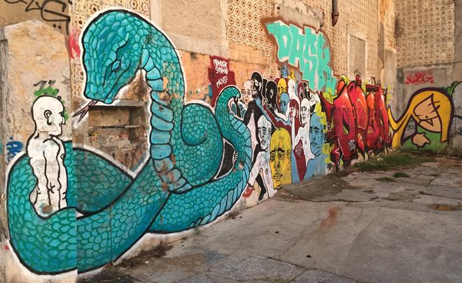 street art in Lissabon (overzijde Taag 04)