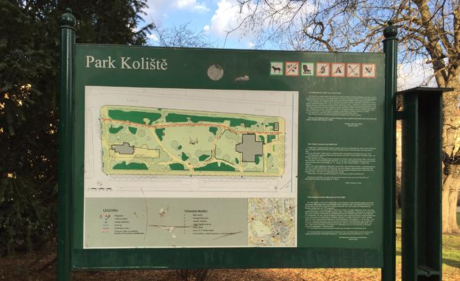 Parken in Brno - Park Koliste 01