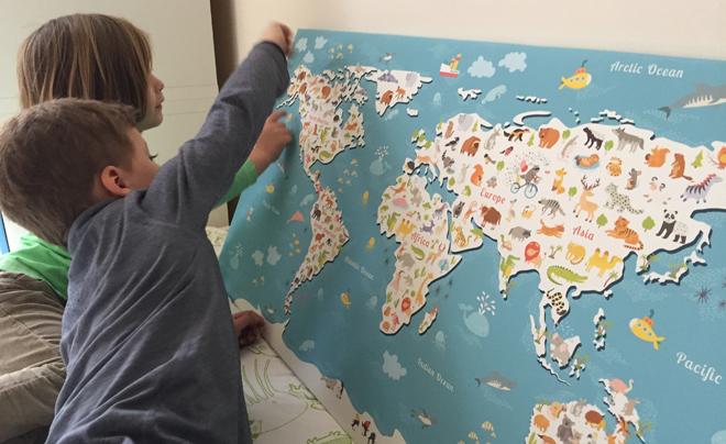 Wereldkaart aan de muur 02