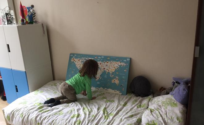 Aan De Muur : Wereldkaart aan de muur reiswijzer kids co