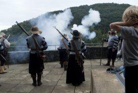 Naar het Middeleeuws festival in kasteel Vianden (Luxemburg)