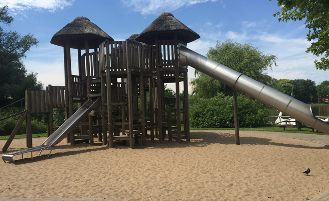 Met de kinderen naar plaswijckpark in Rotterdam 27