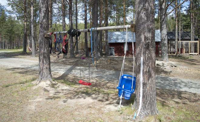 wandelen met husky's in Zweeds Lapland 09