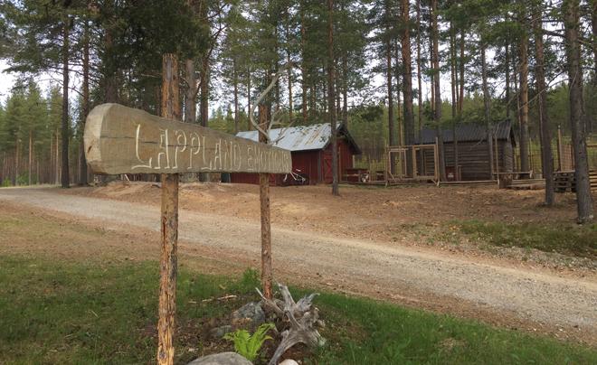 wandelen met husky's in Zweeds Lapland 19