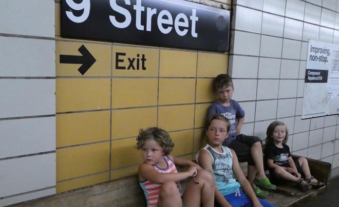 in je eentje met vier kinderen naar New York 07