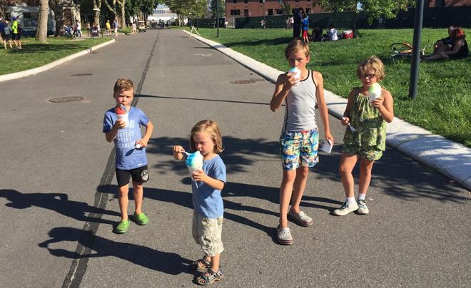 Met kinderen naar Governors Island 20