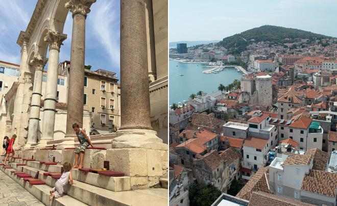 steden langs de kust van Kroatië - Split