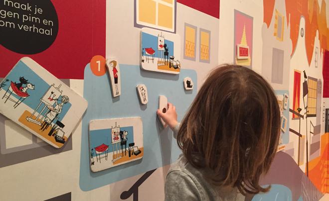 met kinderen naar het Kinderboekenmuseum in Den Haag 09