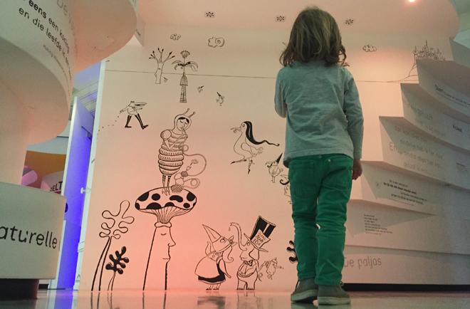 met kinderen naar het Kinderboekenmuseum in Den Haag 13