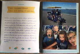 Een Familie vakantiedagboek vol mooie herinneringen aan een fijne vakantie