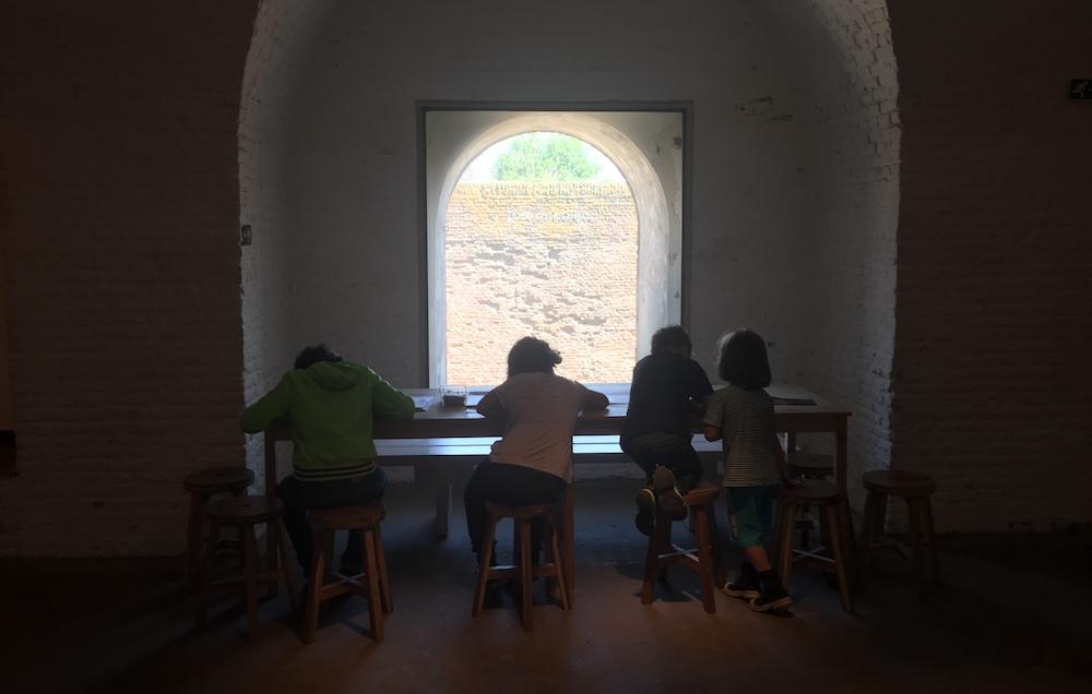 Fort Napoleon met kinderen 222
