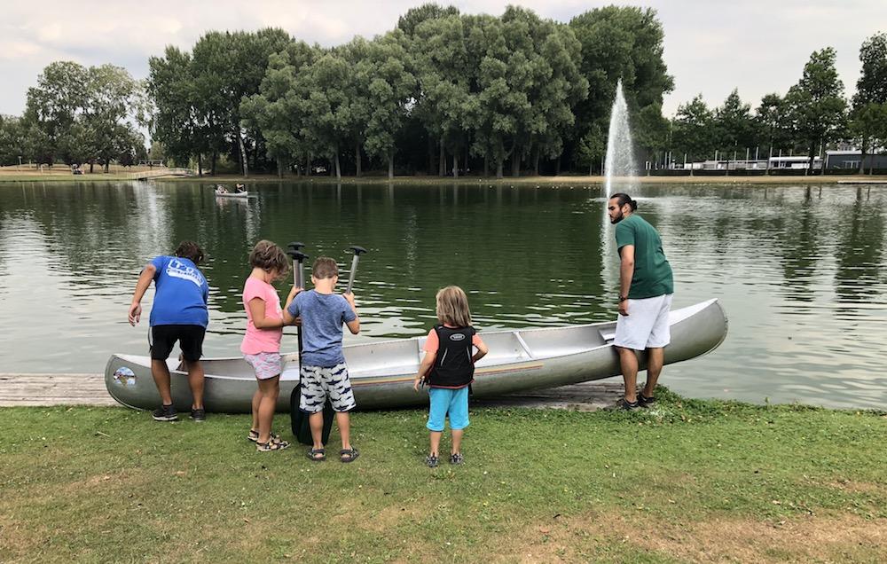 kanoën in het Rotterdamse Zuiderpark 03