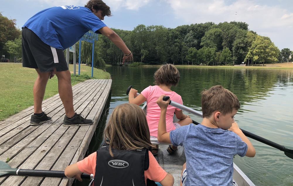 kanoën in het Rotterdamse Zuiderpark 04