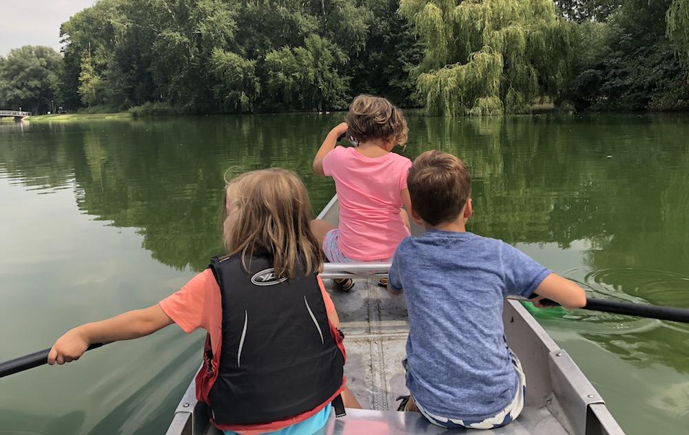 kanoën in het Rotterdamse Zuiderpark 05