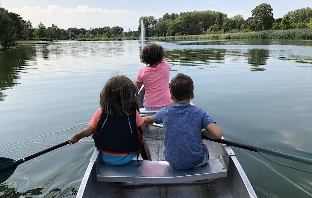 kanoën in het Rotterdamse Zuiderpark 07