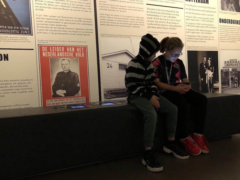 Met kinderen naar Museum 40-45 in Rotterdam 09